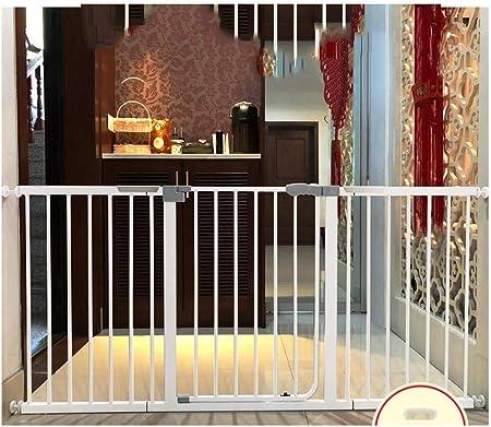 Puerta de seguridad Barandilla de presión Monte la seguridad del bebé Puertas de Escaleras Dual Lock paseo a través del perro casero auto cerca Cierre de Cocina Balcón Barandilla Aislamiento puerta de: