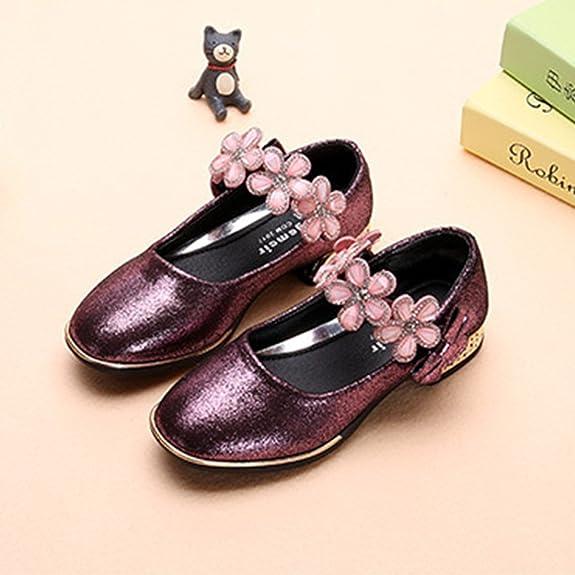 91ea3390b02434 YIBLBOX Prinzessin Schuhe Kristall Schuhe Mädchen Ballerina Schuhe  Pailletten Festlich für Kinder  Amazon.de  Schuhe   Handtaschen