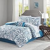 Lila Complete Comforter and Cotton Sheet Set Indigo Full