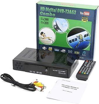 DVB-T2 y DVB-S2 Combo Receptor Satélite Digital Auto/PAL/NTSC Full HD 1080P Sintonizador TV Satélite Admite H.264 / MPEG-2 / MPEG-4 / AVS: Amazon.es: Electrónica