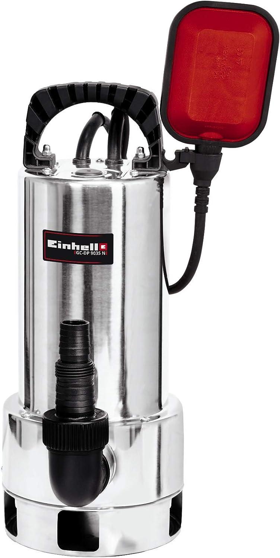 Einhell Bomba de aguas residuales GC-DP 9035N (900W, caudal máximo 18.000 l/h, cuerpos extraños con un tamaño máximo de 35mm, interruptor de flotación regulable en altura de forma ilimitada)