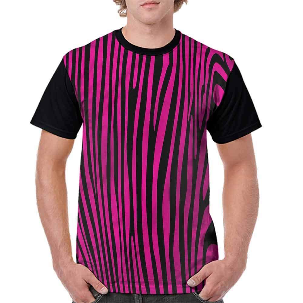 BlountDecor Round Neck T-Shirt,80s Style Grunge Fashion Personality Customization