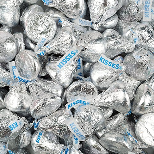 Hershey's Kisses Candy with Silver Foil Silver 1lb -