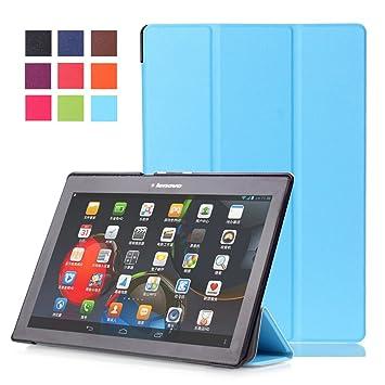 WindTeco Lenovo Tab 2 A10 / Tab3 10 Plus Funda, Smart Case Carcasa con Auto Sueño/Estela Función para Lenovo Tab 2 A10-70F/ / Tab 2 A10-30 / Tab 2 ...