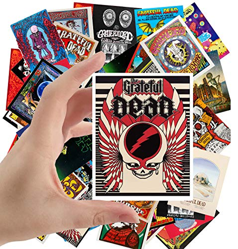 """Large Stickers (24 pcs 2.5""""x3.5"""") Grateful Dead Vintage Posters Movies Psychedelic Artwork"""
