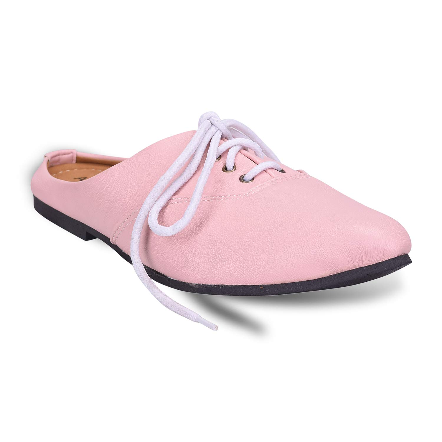 AirSoon Women Pink Color Back Open Shoe