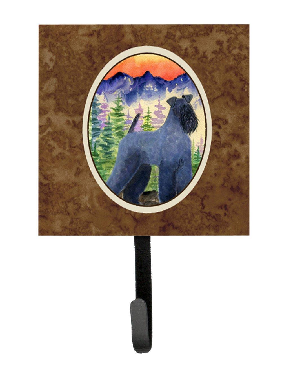 Small Multicolor Carolines Treasures SS8223SH4 Kerry Blue Terrier Leash Holder or Key Hook