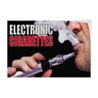 Electronic Cigarettes #1 Indoor Store Sign Vinyl Decal Sticker - 9.25inx24in,