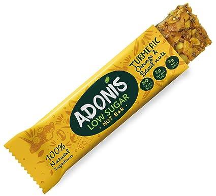 Adonis Low Sugar - Barritas de Nueces del Brasil Crujiente sabor Cúrcuma y Naranja   100