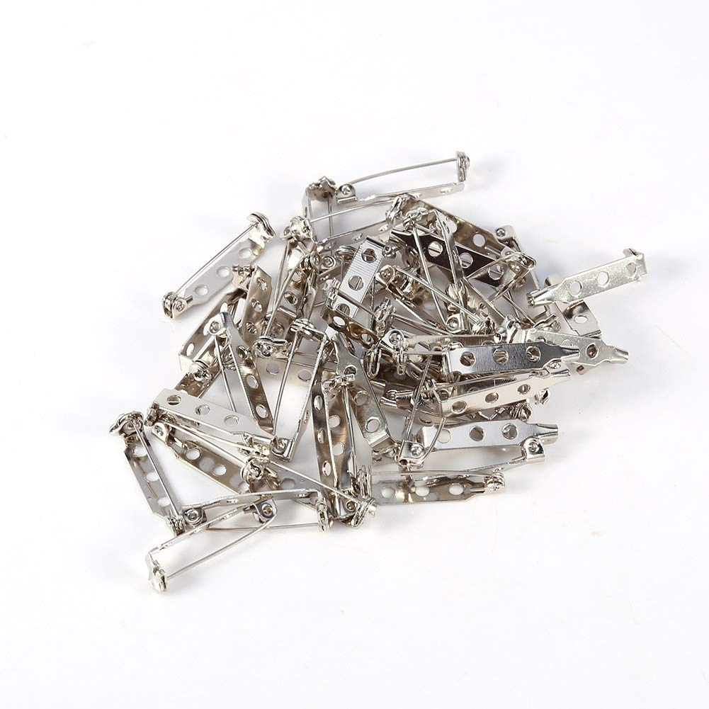 Fdit Pins Brooch Lock Back Safety Catch Rolling Craft DIY Best Accessories for Sewing Kit 20//25//32//38mm 50Pcs 20mm
