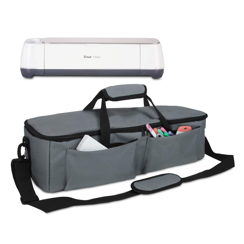Yarwo Carrying Bag for Cricut Explore Air (Air 2), Cricut Maker, Tote Bag Travel Bag Compatible with Cricut Explore Accessories and Supplies, Dark Gray
