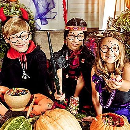 2pcs Lunettes Kit daccessoires Cravate d/éguisement Enfant pour Halloween F/ête Carnaval Party No/ël pour Enfants et Adultes Flyglobal Magicienne gar/çon Cravate d/éguisement