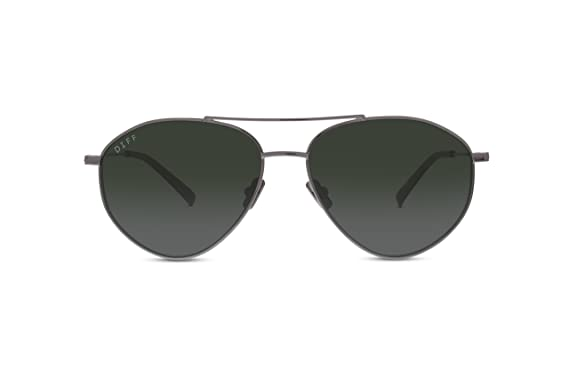 16956f3a8a Image Unavailable. Image not available for. Color  Diff Eyewear  Scout - Designer  Aviator Sunglasses - 100% UVA UVB