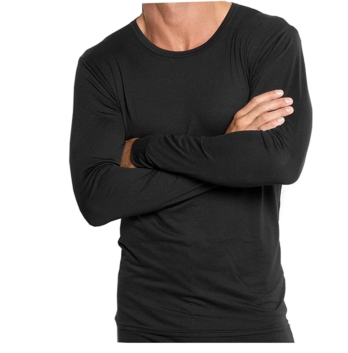 Different Touch Big /& Tall Mens USA Classic Design Base Layer Performance Underwear Top Long John Long Sleeve Tee Shirts