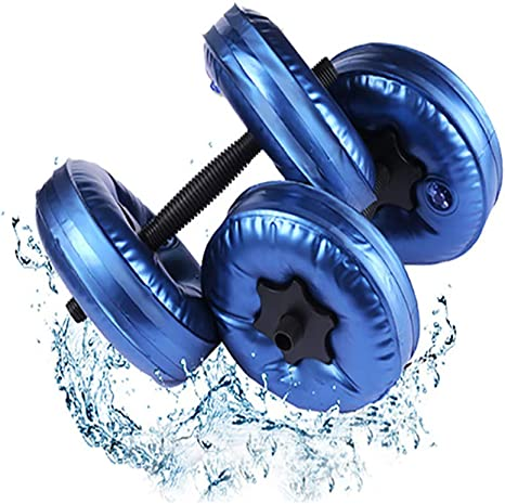 MUYIER - Mancuernas rellenas de agua (par), pesas de mancuernas para gimnasio en casa, fitness, juego completo