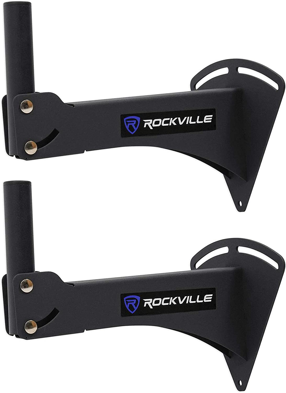 Pair Rockville Adjustable PA Wall Mount Brackets for QSC CP8 Speakers