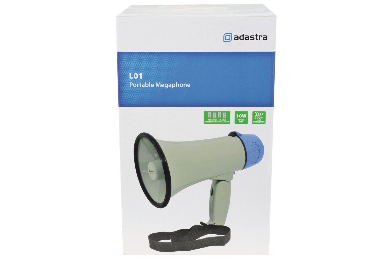 megafono 10/W Adastra L01 con manico pieghevole e funzione di sirena