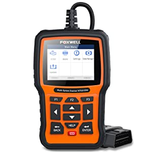 FOXWELL NT510 Car Scanner for BMW Before 2019 Auto Full-System Diagnostic Tool OBDII Code Reader with Active Test and Battery Replacement