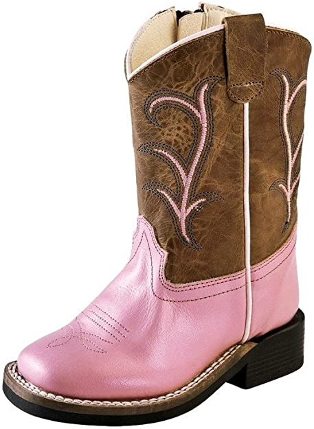 Square Toe Old West Toddler Girls/' Cowgirl Boot BSI1839