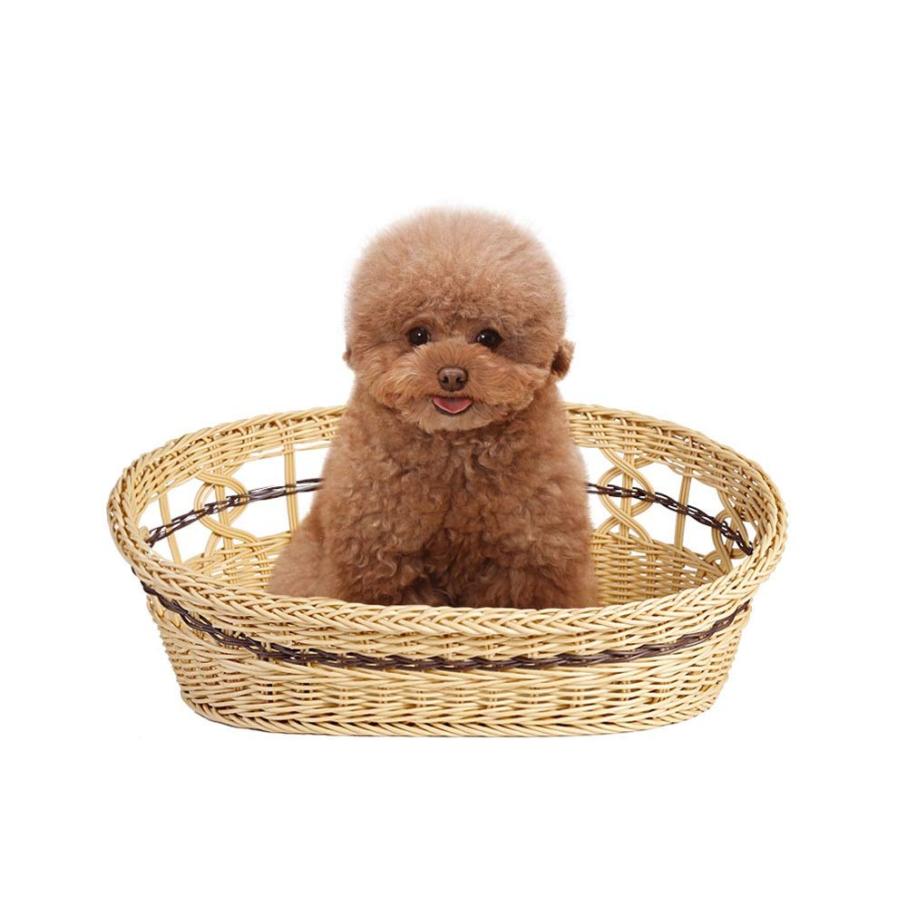 Rattan Kennel Removable and Washable Cute Pet Nest Resin Waterproof and Moisture-Proof Small Pet Cat General