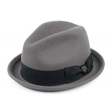 Brixton Hats Kids Lil Gain Fedora - Grey Grey Kids - 1-Size  Amazon ... 76d6a70f94c