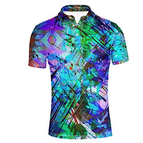 HUGS IDEA Bright Color Men's Golf Jersey Polos Shirt Fashion Summer T-Shirt Soft Short Sleeve Tee