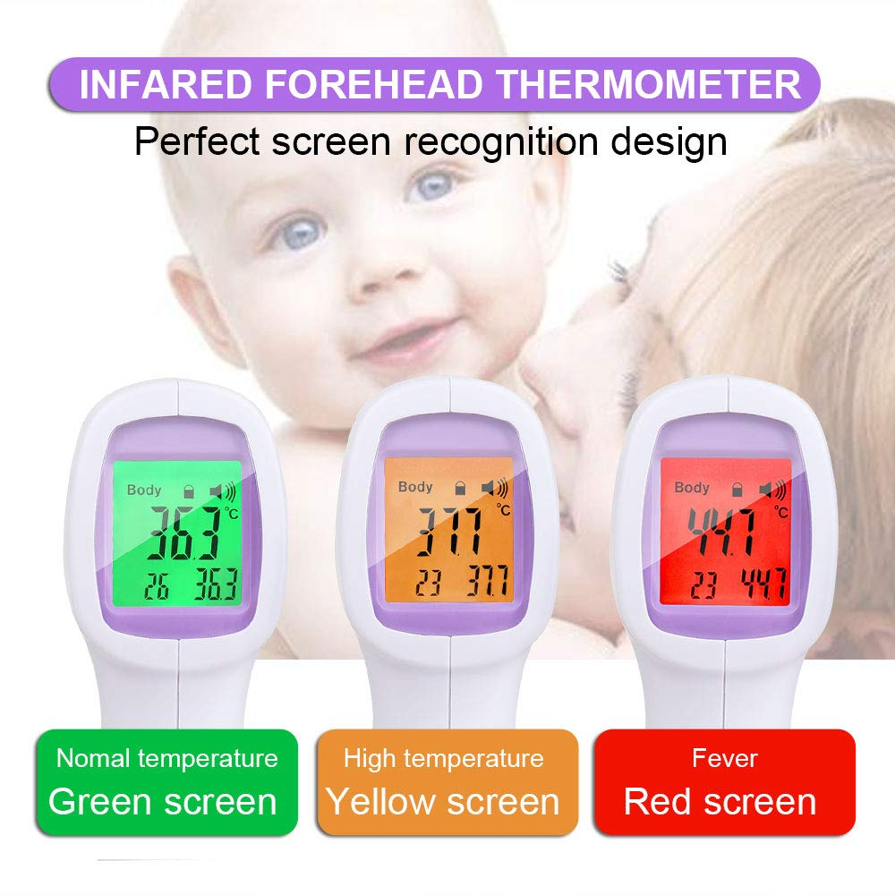 Hand-held Forehead Thermometer Accurate Instant Readings Professional Thermometer for Baby and Adult Non-Contact Forehead Thermometer Digital Infrared Thermometer