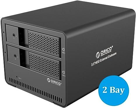 ORICO 9528U3 USB3.0 Tipo C y Tipo A Disco Duro Externo 2 bahía ...