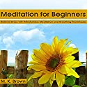 Meditation for Beginners: Relieve Stress with Mindfulness Meditation and Breathing Techniques Audiobook by M. K. Brown Narrated by Alex Q. Huffman