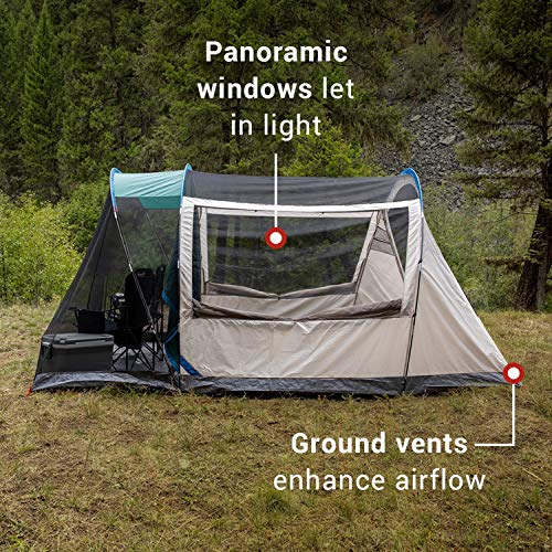Coleman Cabin Camping Tent With Weatherproof Screen Room 4 Person Cabin Tent With Enclosed Screened Porch Evergreen Pricepulse
