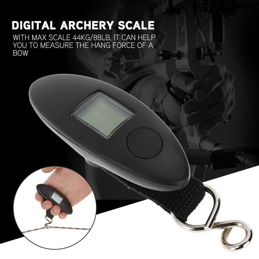 T-best Archery Scale Digital Hanging Scale,Portable Digital Handheld Bow Hang Scale 88lbs Tool With LCD Display for Compound Measure and Recurve Bow by T-best (Image #3)