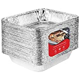 9 x 13 Aluminum Foil Pans (30 Pack) - Disposable Half Size Steam Table Deep Pans Great for Restaurants, Parties, BBQ, Catering, Baking, Cooking, Heating, Storing, Prepping Food – 12.5'' x 10.25'' x 2.5''