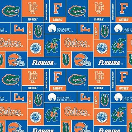 Florida Gators Fleece Fabric - College University of Florida Gators 012 Print Fleece Fabric By the Yard