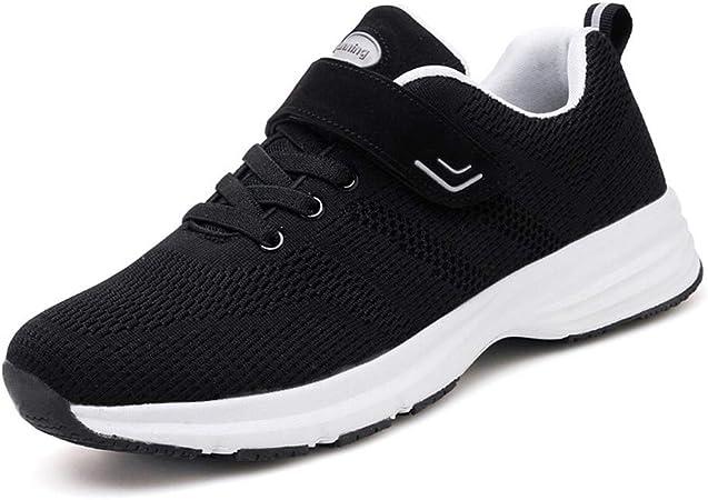 CXQWAN - Zapatillas para Hombre de Corte Ancho, Antideslizantes, Resistentes al Desgaste, para pies hinchados, para Personas Mayores, Fascitis Plantar, diabéticos, Negro, 43: Amazon.es: Hogar