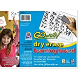 "GoWrite! Dry Erase Learning Sheets 3/4"" x 3/8"" x 1/4"" Ruled 11"" x 8-1/4"", 5 Sheets, White (LB8511)"
