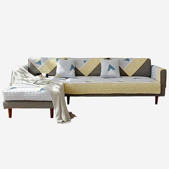 fundas de sofa anti gatos,Cotton non-slip L-shaped Sofa Protector Cover,1/2/3/4/5/6 seater fabric Slipcovers,universal sofa covers,living room lounge corner Furniture Protector Covers-90*160cm: Amazon.es: Hogar