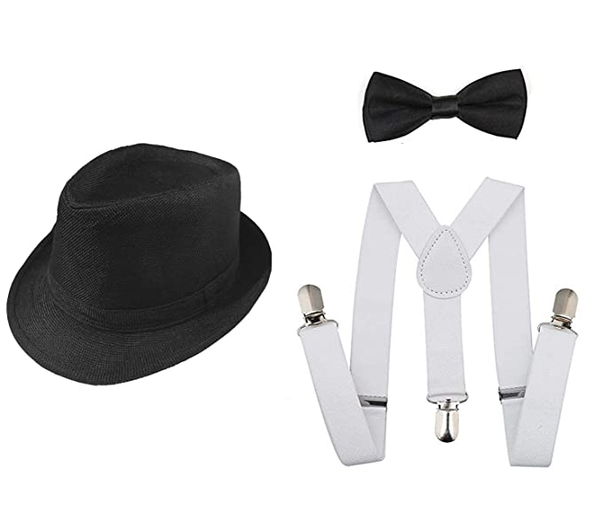 aaa4510f3e584f Image Unavailable. Image not available for. Color: 1920s Set Fedora  Gangster Hat Costume Accessory ...