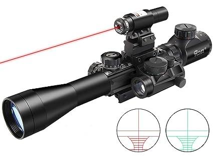 Hunting Illuminated 3-9X40 Rangefinder Rifle Scope+Holographic Dot