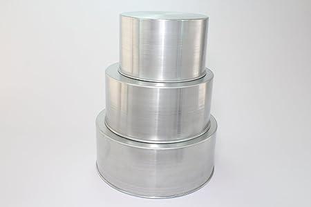 Round Cake Baking Tins   3 Tier   8 10 12 U0026quot;   3u0026quot;
