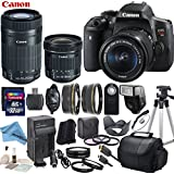 Canon EOS T6i Digital SLR Camera with EF-S 18-55mm STM Lens & EF-S 55-250mm f/4-5.6 IS STM Lens & EF-S 10-18mm f/4.5-5.6 IS STM Lens with eDigitalUSA Premium Kit - International Version