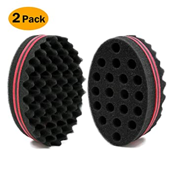 New-double Sided Barber Hair Brush Sponge Dreads Locking Twist Coil Afro Curl Wave Personal Care Appliances Curling Irons