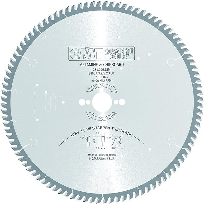 CMT ORANGE TOOLS 281.096.12M Sierra circular 300x3.2x30 z 96 tcg silenciosa