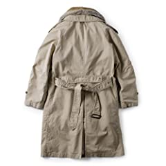 Sage de Cret Rabbit Liner Trench Coat: Beige