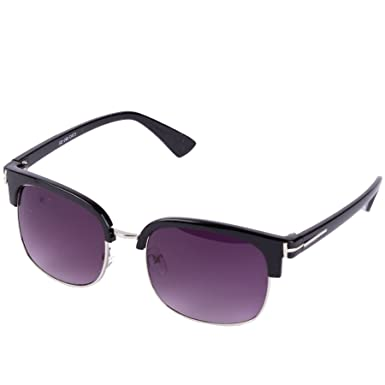 e96d6e2016 Browline Sunglasses (Black)  Amazon.co.uk  Clothing