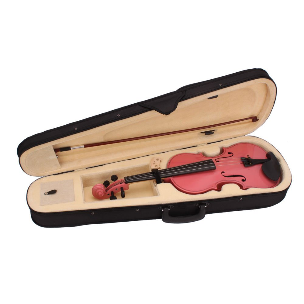 DESERT FOX 4/4 Full Size Acoustic Violin,Made from Basswood with Hard Case, Bow and Rosin (Pink) by DESERT FOX (Image #4)