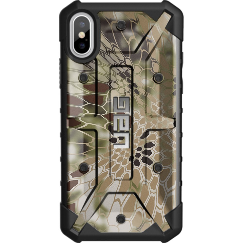 Limited Edition - Customized Designs by Ego Tactical Over a UAG- Urban Armor Gear Case for Apple iPhone X/Xs (5.8'')- Brown Kryptek NomadCamouflage