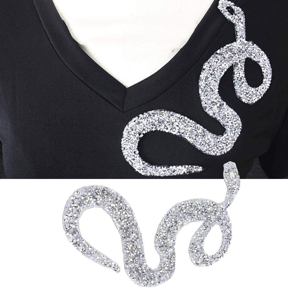 Silver 5PCS Snake-Shaped Rhinestones Trim Ribbon Mesh Wrap Roll DIY Clothing Accessories Applique Shanbor Rhinestones Ribbon