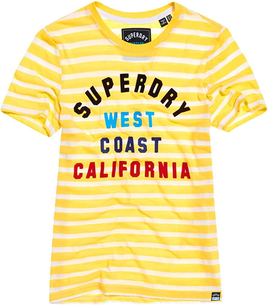 Superdry West Coast Stripe Entry tee Camiseta para Mujer: Amazon.es: Ropa y accesorios