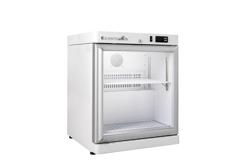 K2 Scientific 2.5 cu. ft. Pharmaceutical/Vaccine Benchtop Glass Door Refrigerator