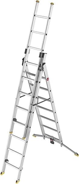 Hailo 9308-281 Profiline Trio - Escalera de combinación de 8 peldaños: Amazon.es: Bricolaje y herramientas